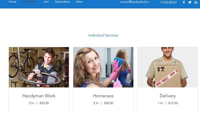 The Quikjob.biz website