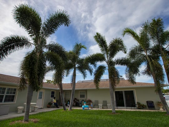 A view of The New Beginnings in Cape Coral which serves as housing for young single mothers with an emphasis on communal living.