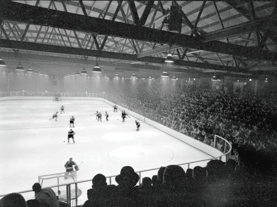 Lynah Rink was filled to capacity (and beyond) for the game against a Harvard team that had defeated the Big Red seven times in a row. The fans' boisterous support inspired the Cornell players that night, setting the stage for the Lynah Faithful to come.
