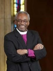 Bishop Michael Bruce Curry, presiding bishop and primate of the Episcopal Church, visited Rockport on Wednesday, Feb. 28, 2018. Curry is the first African-American to be elected presiding bishop of the Episcopal Church.