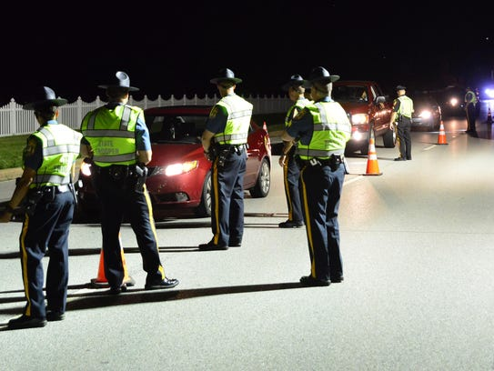 A sobriety checkpoint near Dover on July 15 was part