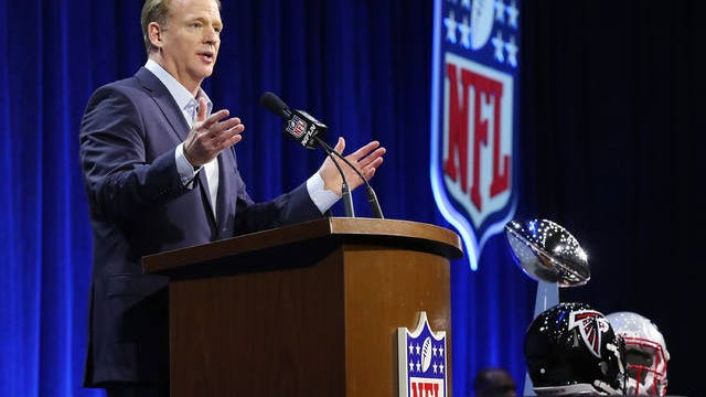 NFL commissioner Roger Goodell said Wednesday players will be encouraged to stand for the national anthem, but no rules changes will be enacted to force them to do so.