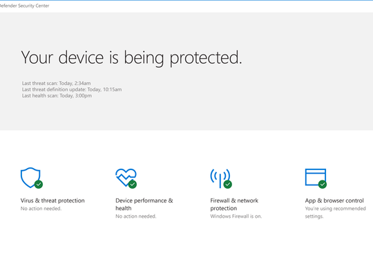 Bolstering security in Windows 10.