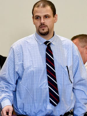 Daniel Clay enters the courtroom for the beginning of his trial for the death of Chelsea Bruck.