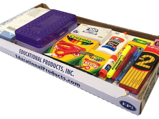 A sample supply kit from Educational Products.