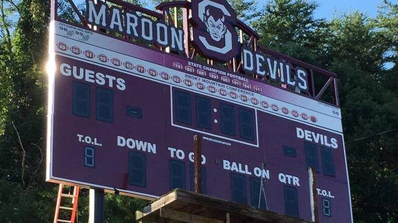 Swain County will have a new, fancier scoreboard for this football season.