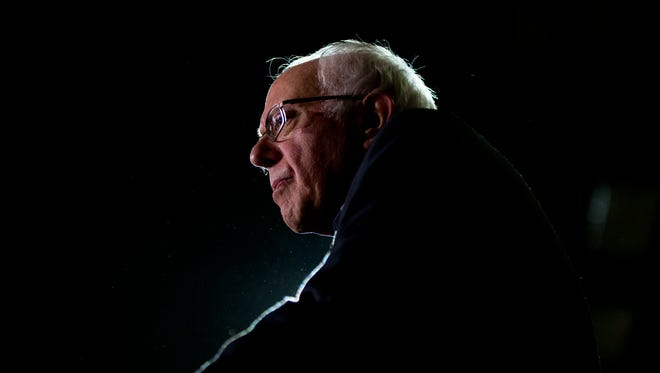 Democratic presidential candidate Sen. Bernie Sanders, I-Vt., speaks at a campaign event on the campus of Luther College Sunday, Jan. 24, 2016, in Decorah, Iowa.