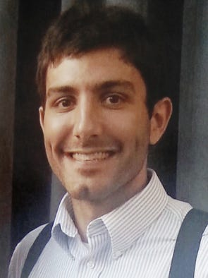 Nathan Trapuzzano, 24, Indianapolis, was found in the 3500 block of West 16th Street near a tire shop with a gunshot wound to his abdomen, Tuesday, April 1, 2014.