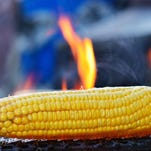 Grill the corn for about 5 to 7 minutes, until it is slightly charred all over.