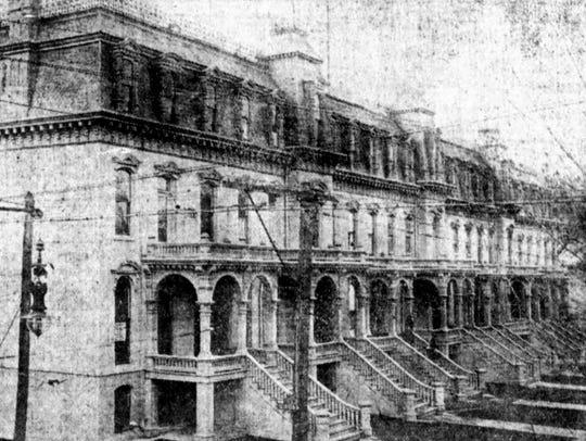 The Dwight Block as it appeared in 1912.