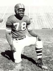 Don Coleman was MVP of the Spartans' 9-0 1951 season. Don Coleman was Michigan State's first unanimous All-American and its first black All-American in 1951. Courtesy of MSU Athletic Communications