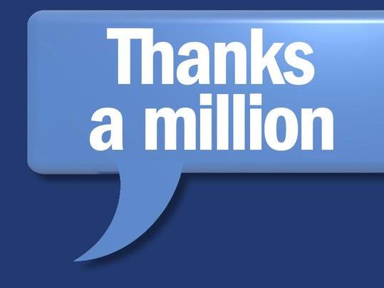 Thanks a Million for online