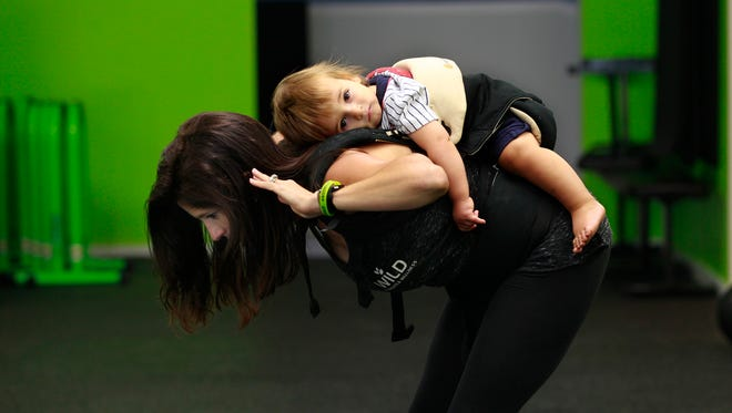 For new parents, exercise takes on new forms. A body carrier for your baby allows them to tag along for your fitness adventures.