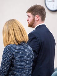Tyler Austin appears in Vermont Superior Court in Burlington