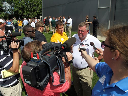 Greg Davis has high hopes for Iowa's offense, which