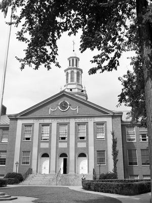 Exterior shot ofHartwell Hall. The building has significant history on the Brockport campus.