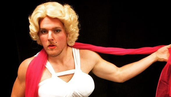 Indianapolis Colts punter Pat  McAfee as  Marilyn Monroe on Presidents' Day.