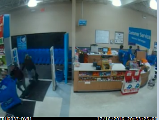 Surveillance footage showing the possible suspects