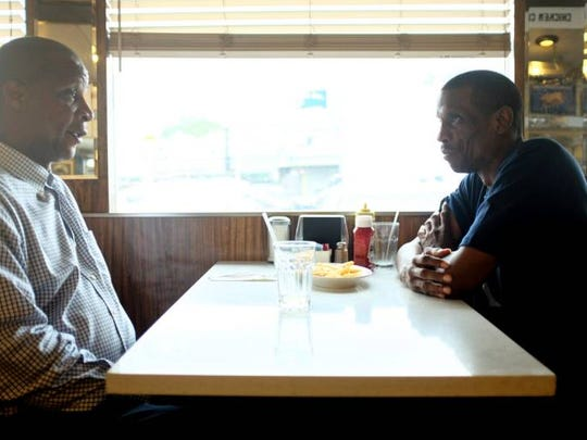 Darryl Strawberry, left, and Dwight Gooden, shown at a Queens diner, are the subject of an ESPN documentary detailing the highs and lows of the former Mets superstars and coinciding with the 30th anniversary of the 1986 Mets' championship season.