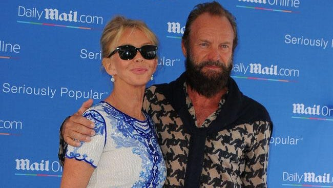 Sting with Trudie Styler.