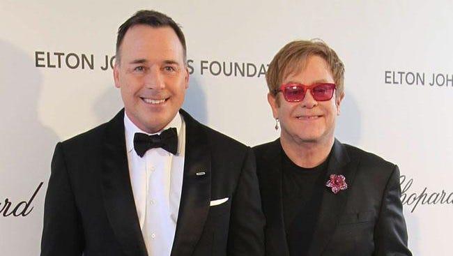 Elton John with David Furnish