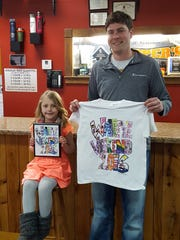 Marie Zimdahl, the T-shirt contest winner of the kindergarten