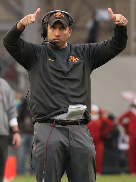 NCAA Football: Oklahoma State at Iowa State