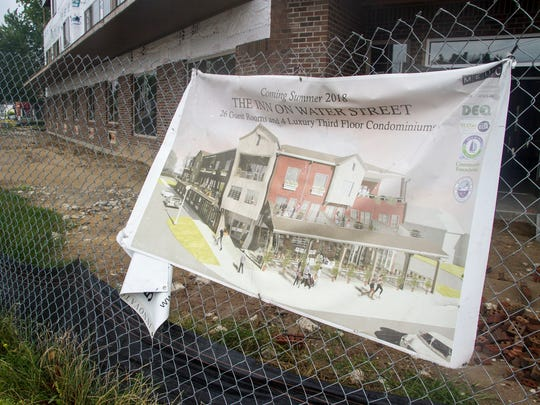 Construction on the Inn on Water Street in Marine City is on schedule and the project is expected to be completed in time for a soft opening in March 2018. The hotel will have 26 guest rooms and four residential condos.
