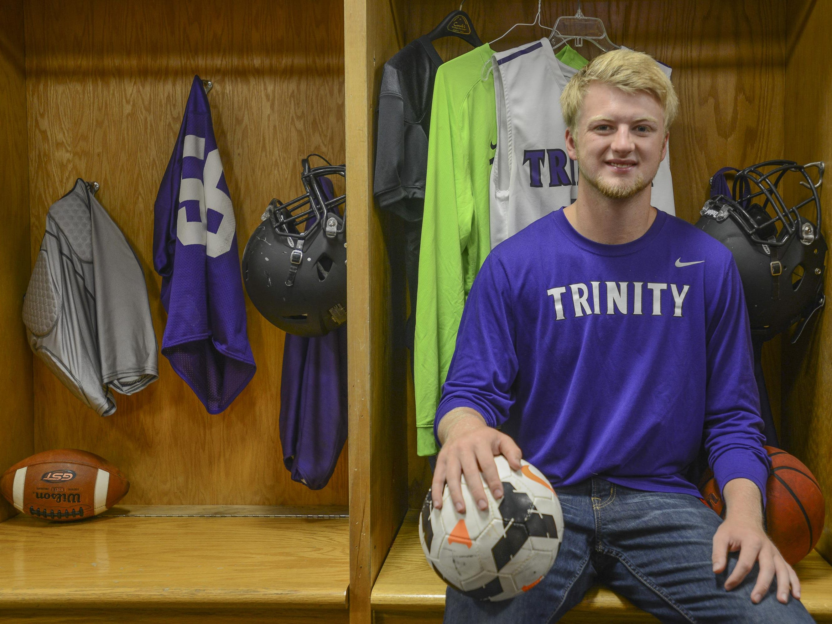 TCA's Kyle Akin helped the basketball team to three trips to the Class A sectionals in his four years.