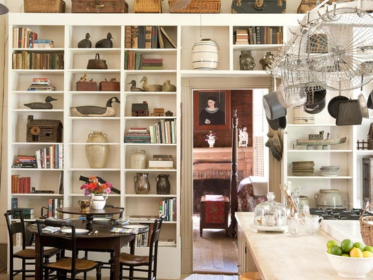 "A room in an 1850s Alabama farmhouse is featured in ""Past Present: Living With Heirlooms and Antiques"" by Susan Sully."