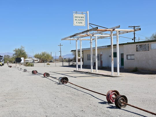 """A vacant business near Desert Center is part of area that would become part of a renewable energy zone under the Desert Renewable Energy Conservation Plan's """"Preferred Alternative."""""""