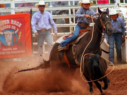 Cowboys and cowgirls got to compete in various events during day one of the Mescalero Apache Ceremonial and Open Rodeo on Friday afternoon.