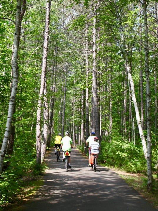 Vilas County bike trail