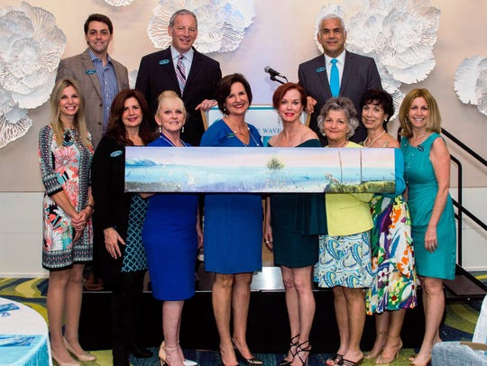 Catch the Wave of Hope Board Members, from left, front