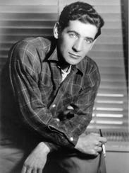 A portrait of young Leonard Bernstein.