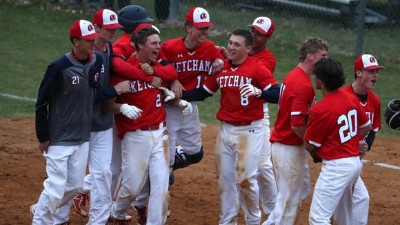 RC Ketcham players celebrate their 3-2 win over Clarkstown