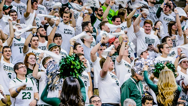The MSU Izzone is the student section at basketball games.
