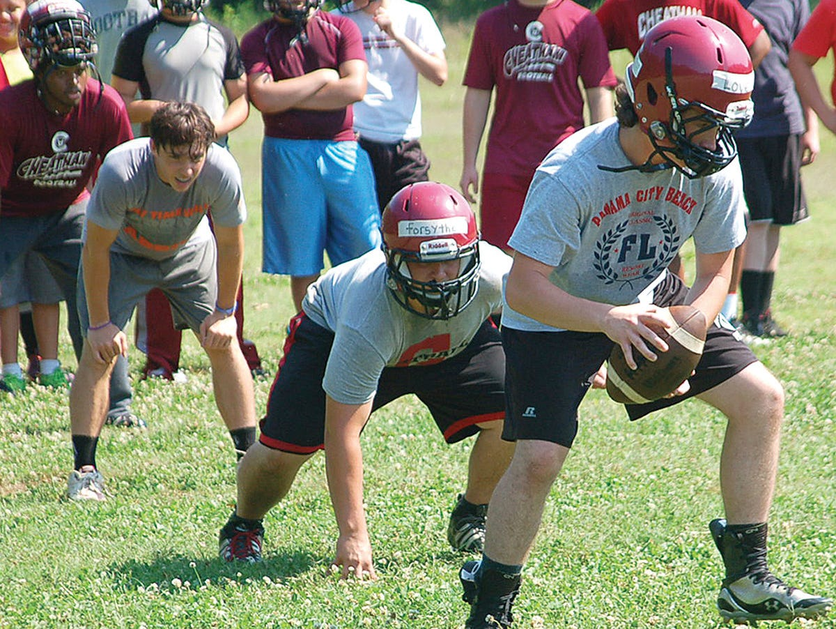 The Cheatham County Central High School football team has been conducting morning practices to prepare for the 2015 season.