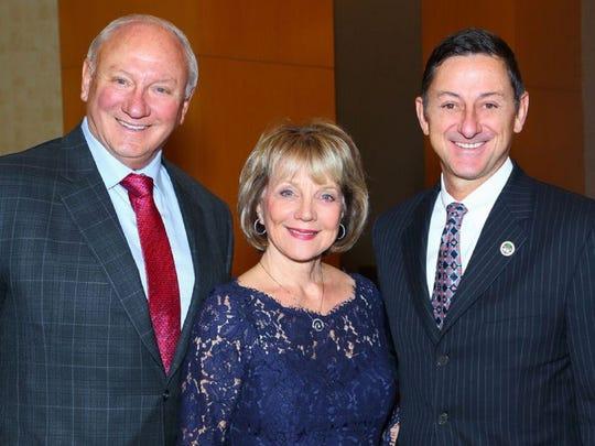 COD Foundation Board President Mark and JoAnn Nickerson with COD President Dr. Joel L. Kinnamon.