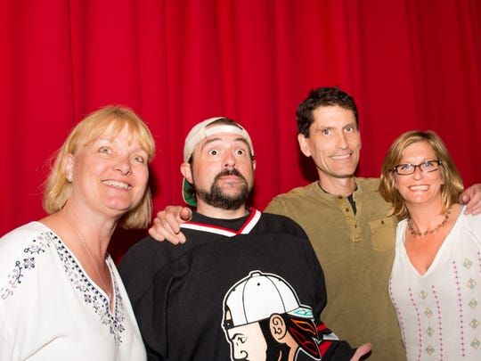From left, Corinna Thuss, managing director of FilmOneFest; Kevin Smith; Robert O'Connor, creative director of FilmOneFest; Janet Peterson, wealth manager at Oppenheimer, event organizer and Smith's longtime friend.