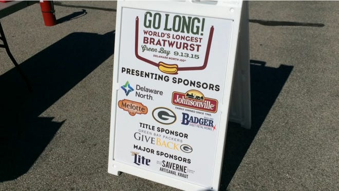 Johnsonville and Delaware North teamed up to grill the world's longest brat.
