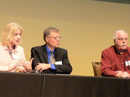 Panelists (from left) Brenda Boetel, UW-River Falls;
