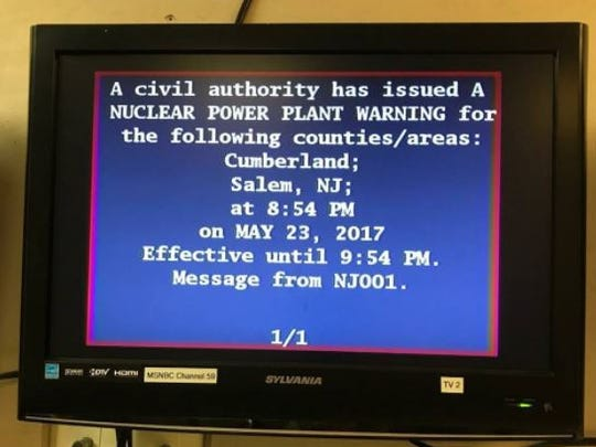 This emergency broadcast regarding the nuclear power