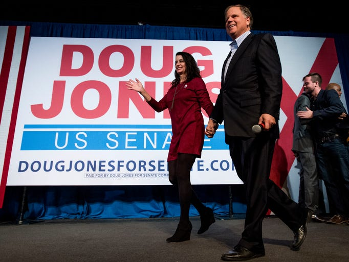 U.S. Senate candidate Doug Jones and his wife Louise