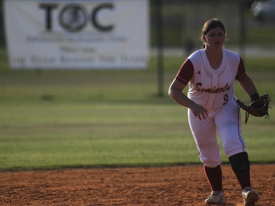 Florida High shortstop Macy Mizell tore her ACL just before the playoffs last season but is back for this year's go-round in her final season.