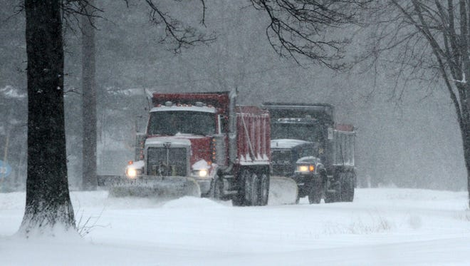 Even though the Blizzard of 2015 did not live up to the hype, people of Middlesex County needed to clean up at least 3-5 inches of snow though out the countySnow plows clear the roadway along RT 18 South bound in Old Bridge. On Tuesday  January 27  ,2015Photo: Mark R. Sullivan/Staff Photographer