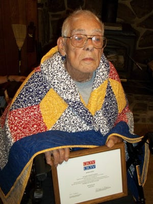 Morris Kiefer, a US Army veteran of the Korean War, was recently awarded a Quilt of Valor by Mountain Home Quilts of Valor. Kiefer, of Bull Shoals, served in the 955th Field Artillery, B Battery, 1952-1953.