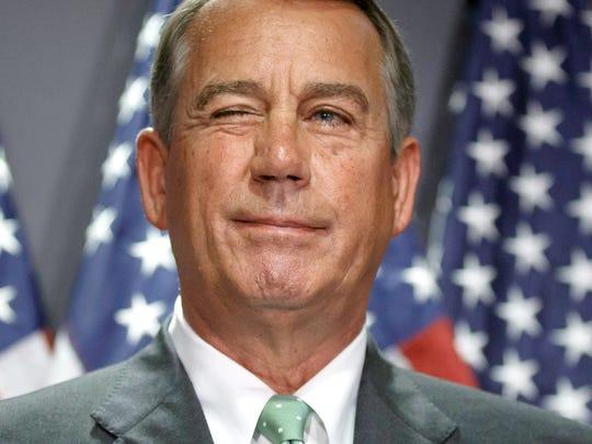 Former House Speaker John Boehner retired. Now, 17