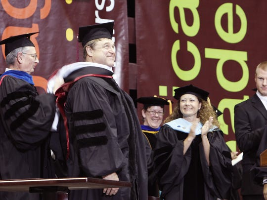 John Goodman receives his honorary doctorate at Missouri