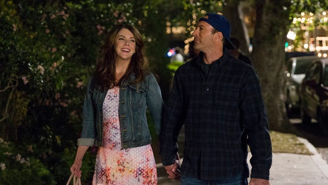 Lorelai (Lauren Graham) and Luke (Scott Patterson) are back in Netflix's 'Gilmore Girls: A Year in the Life.'